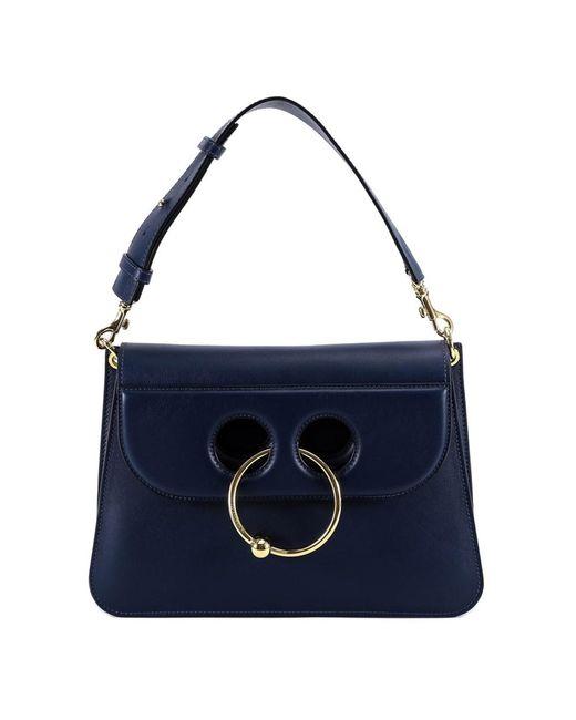 J.W. Anderson - Women's Blue Leather Shoulder Bag - Lyst