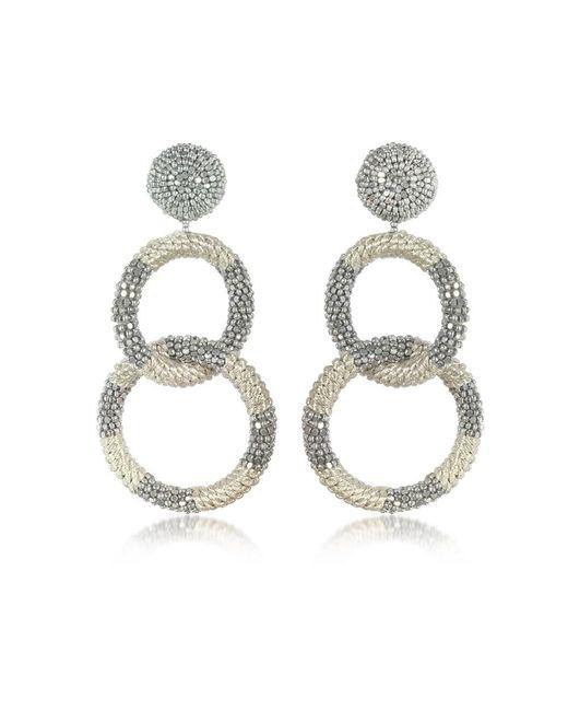 Oscar de la Renta - Metallic Women's Silver Other Materials Earrings - Lyst