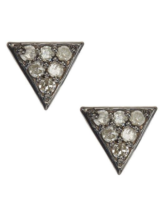Adornia - Metallic Champagne Diamond Waverly Stud Earrings - Lyst