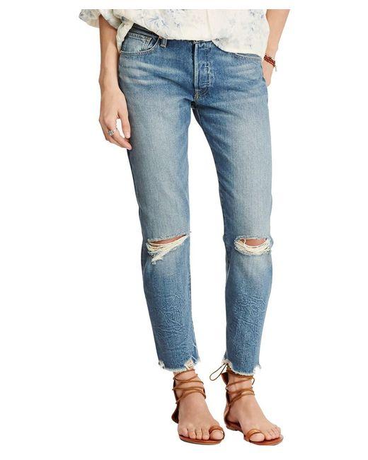 Denim & Supply Ralph Lauren - Blue High Rise Tapered Jeans - Lyst