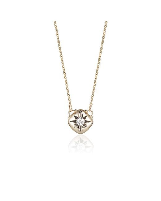 Jewelista - Diamond Cushion Necklace In 14k Yellow Gold (0.10cts, H-i I1) - Lyst