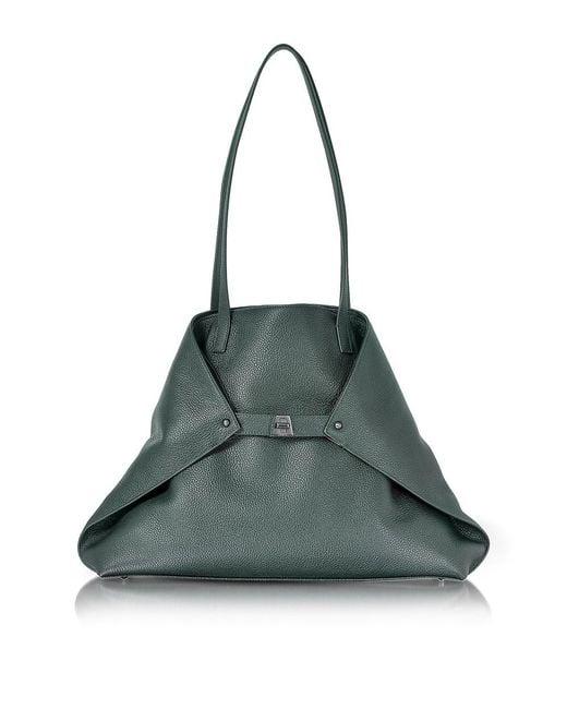 Akris   Women's Green Leather Tote   Lyst