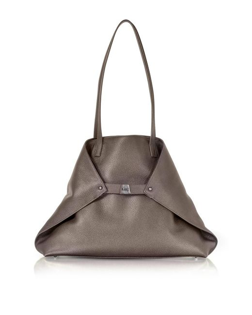 Akris | Women's Green Leather Tote | Lyst