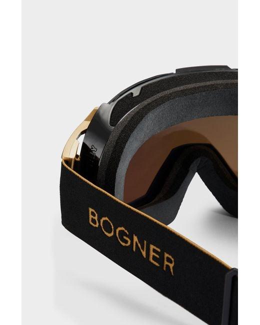 920e7a0897c ... Bogner - Metallic Just-b Gold Ski goggles In Black for Men - Lyst ...