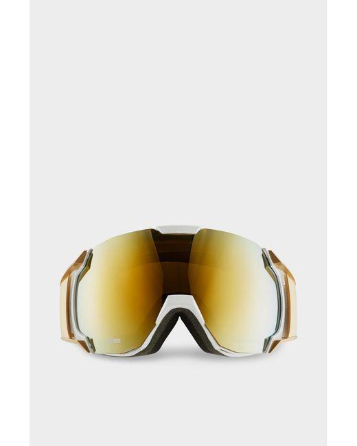 72502ab47f0 ... Bogner - Metallic Just-b Gold Ski goggles In White - Lyst ...