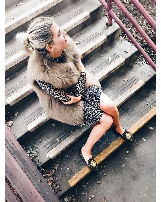 Yves Salomon - Multicolor Knitted Fox Vest - Lyst