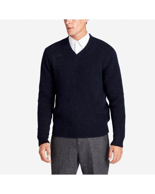 Bonobos Italian Wool Deep V-neck Sweater in Blue for Men | Lyst