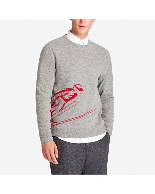 Bonobos Lightweight Wool Crew Neck Sweater in Gray for Men | Lyst