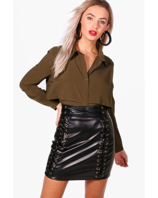 Boohoo   Green Willow Double Layer Military Shirt   Lyst