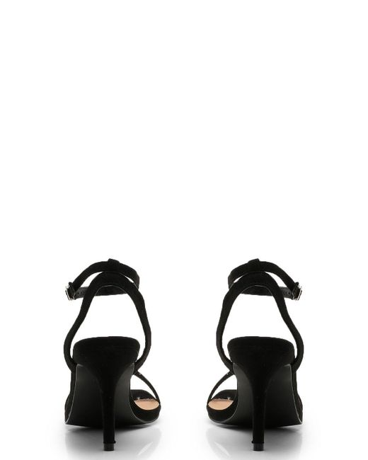 3b97e4b8712 Lyst - Boohoo Wide Fit Square Toe Two Part Heels in Black - Save 16%