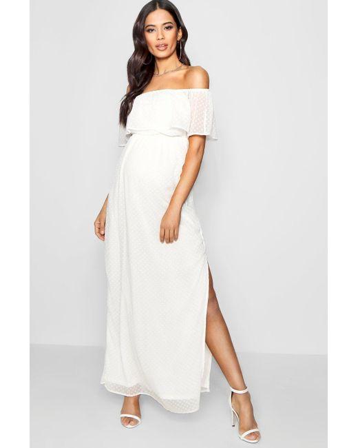 White Maternity Maxi Dresses for Women