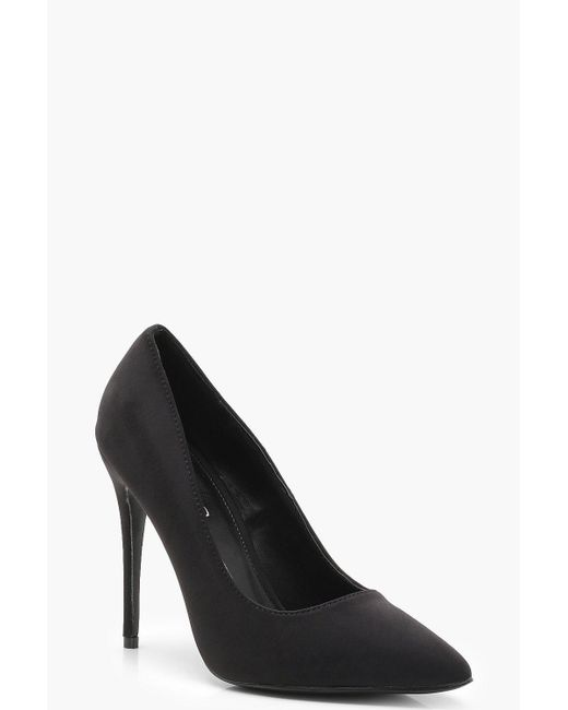Boohoo - Black Pointed Toe Court Shoes - Lyst