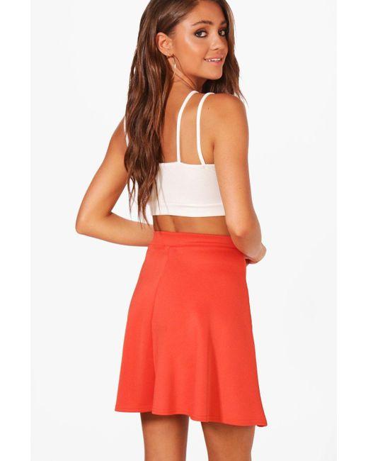 9ddc6054fd ... Lyst Boohoo - White Roseanna Fit   Flare Skater Skirt ...