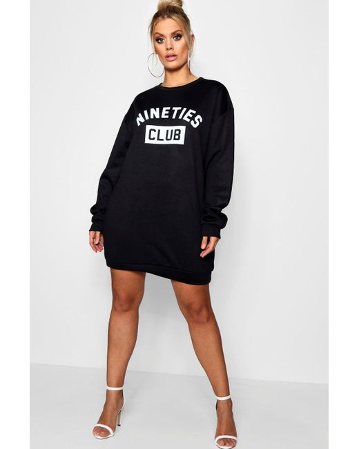 Boohoo Plus 'Nineties' Sweat Dress Visit New Cheap Latest Perfect Sale Online Latest Collections 6rDjx