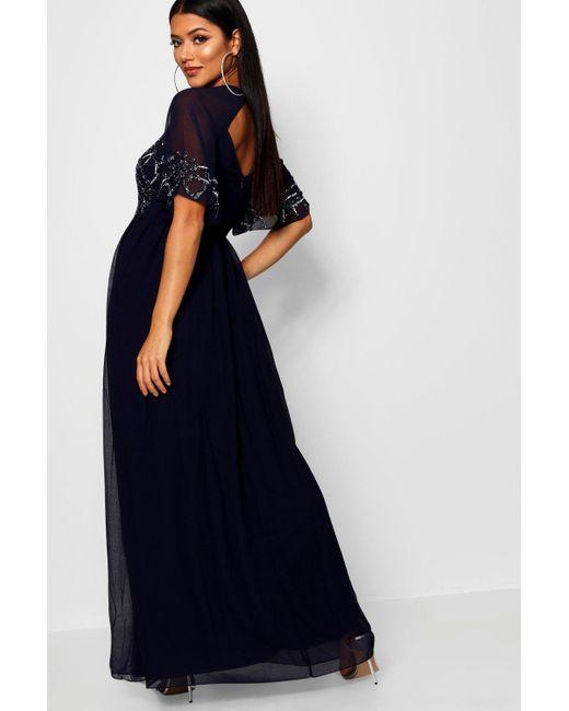 642e23d6807 ... Boohoo - Gray Boutique Embellished Maxi Dress - Lyst