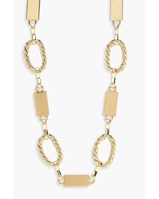 Boohoo - Metallic Chunky Linked Chain Necklace - Lyst