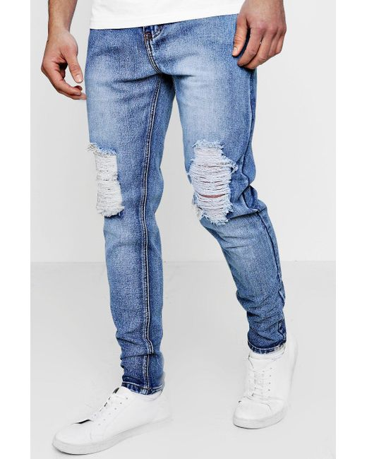 Discount Sale Newest Cheap Price Boohoo Skinny Fit Rigid Jeans With Raw Hem Free Shipping Popular Sy0YM808s