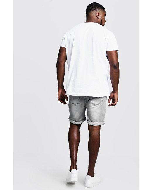 066733e1aa07e0 ... BoohooMAN - Multicolor Big & Tall Graue Stretch Skinny Fit Jeansshorts  for Men ...