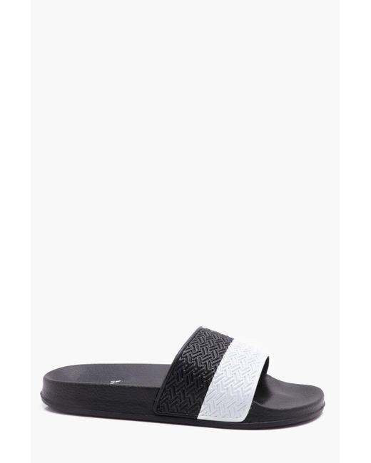 Boohoo - Black Stripe Slider for Men - Lyst