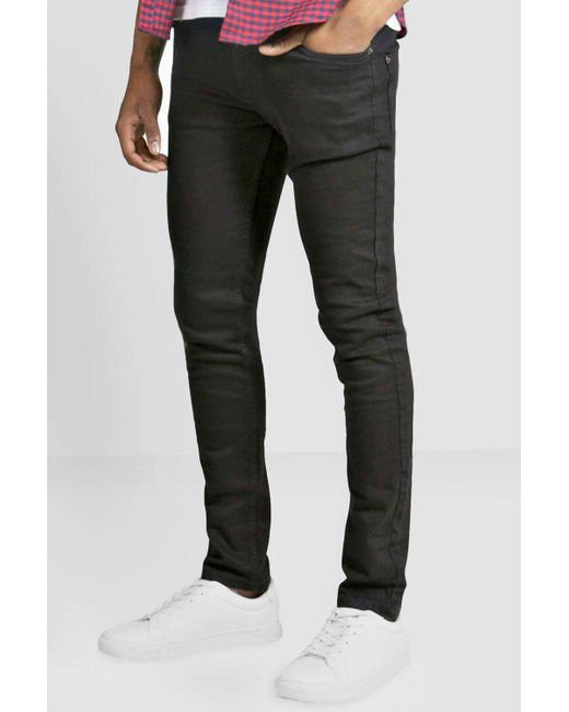 847effae85bb Lyst - Boohoo Black Super Skinny Fit Jeans in Gray for Men - Save 78%