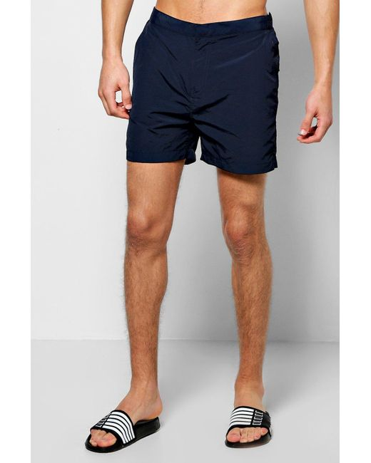 Boohoo | Blue Smart Taslan Swim Shorts for Men | Lyst