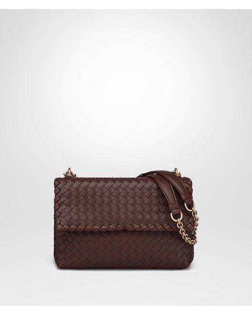 Bottega Veneta - Brown Dark Barolo Intrecciato Nappa Small Olimpia Bag - Lyst