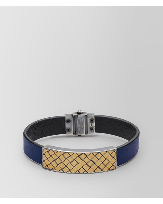 Bottega Veneta - Multicolor ARMBAND AUS LEDER/ALTSILBER for Men - Lyst