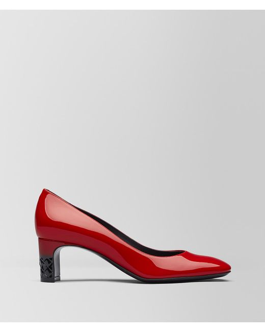 Bottega Veneta - China Red Patent Calf Isabella Pump - Lyst