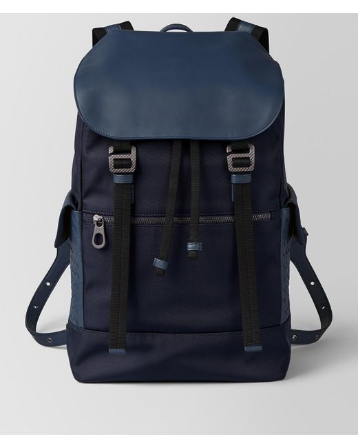 Bottega Veneta - Blue Tourmaline/pacific Hi-tech Canvas Sassolungo Backpack for Men - Lyst