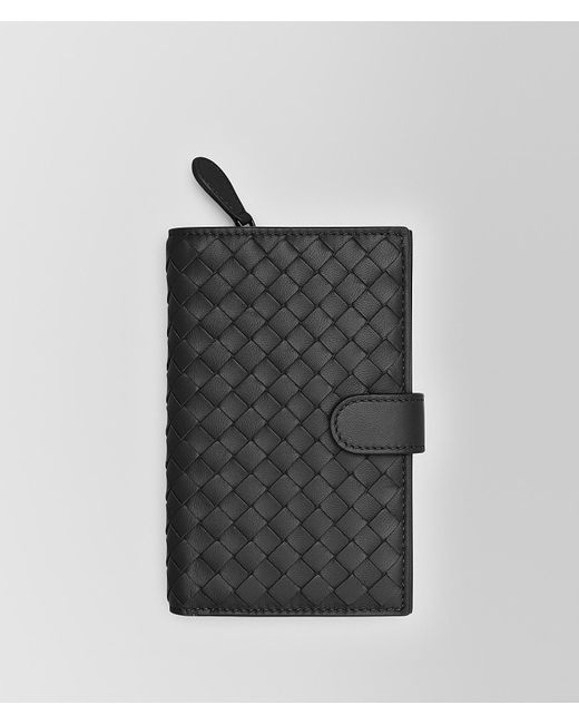 Bottega Veneta - Black Continental Wallet In Nero Intrecciato Nappa - Lyst