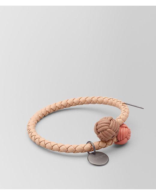 Bottega Veneta - Pink Peach Rose Intrecciato Nappa Multicolor Bracelet - Lyst