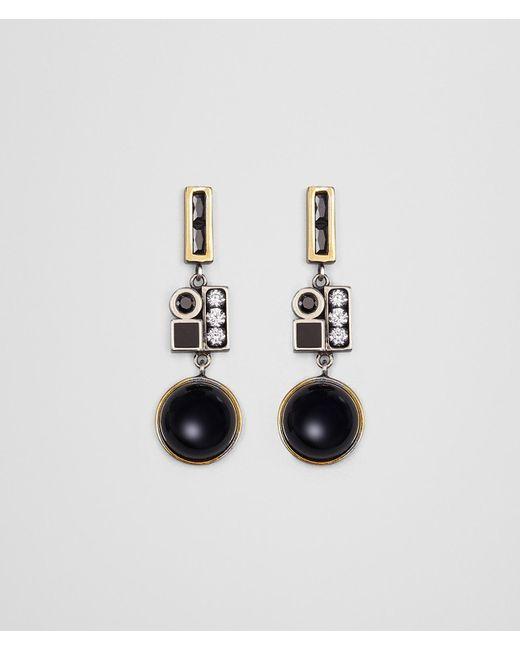 Bottega Veneta - Multicolor Onyx/silver/enamel Earring - Lyst