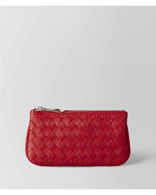 Bottega Veneta - China Red Intrecciato Nappa Key Holder - Lyst