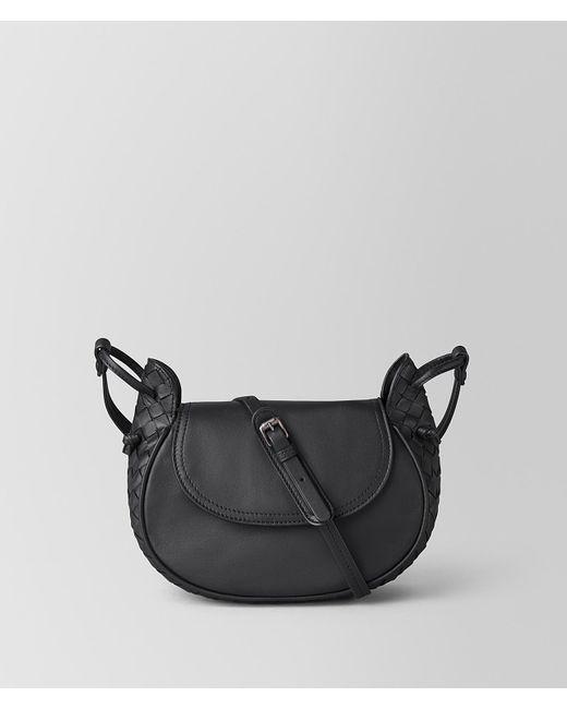 Bottega Veneta - Black Small Crossbody Bag In Intrecciato Nappa - Lyst