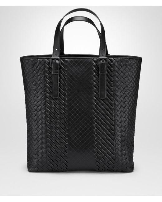 4bfd5e4e1b Bottega Veneta - Black Nero Intrecciato Imperatore Calf Aquatre Bag for Men  - Lyst ...
