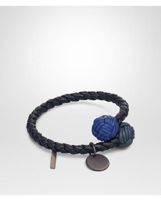 Bottega Veneta - Blue Tourmaline Intrecciato Nappa Multicolor Bracelet - Lyst