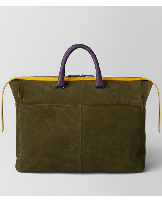Bottega Veneta - Green Multicolor Double Suede Day Tote for Men - Lyst