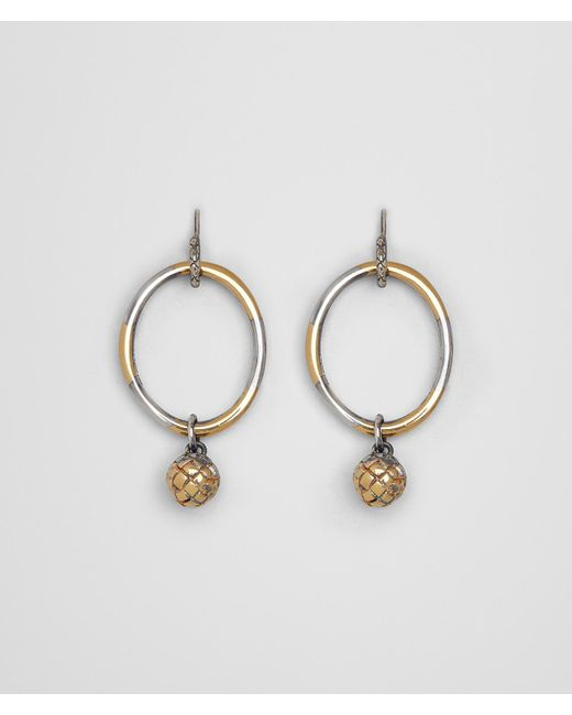 Bottega Veneta - Metallic Antique Silver/yellow Gold Patina Dichotomy Earing - Lyst