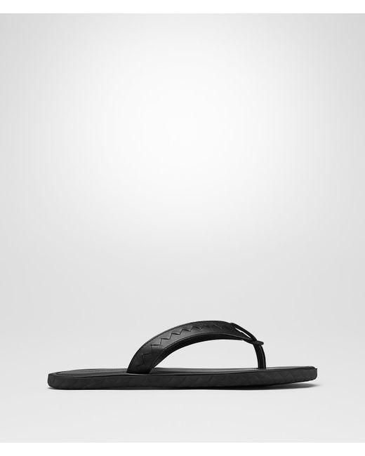Bottega Veneta - Black PLAGE ZEHENSANDALE AUS KALBSLEDER for Men - Lyst