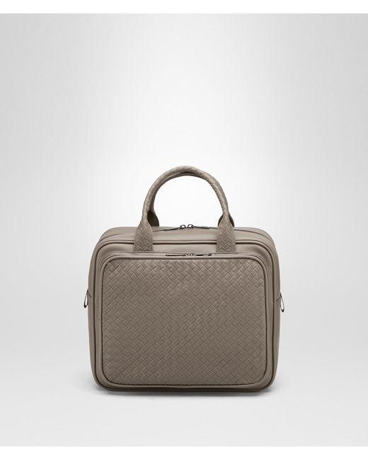 505e01fbd606 Bottega Veneta - Gray Steel Intrecciato Briefcase - Lyst ...