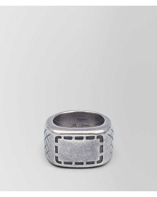 Bottega Veneta - Multicolor RING AUS SILBER MIT SELLERIA-MOTIV UND INTRECCIATO-DETAILS for Men - Lyst