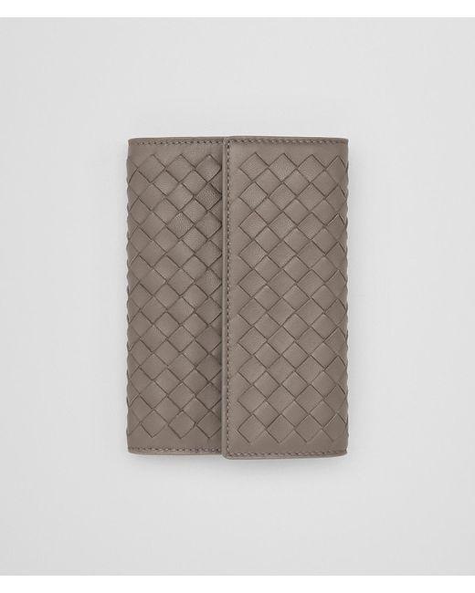 Bottega Veneta - Gray Continental Wallet In Steel Intrecciato Nappa Leather - Lyst