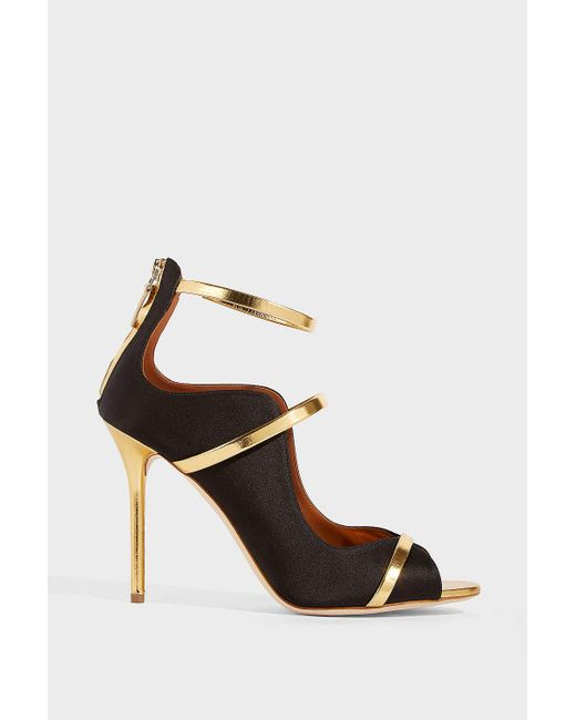 Malone Souliers - Multicolor Mika Metallic Leather-trimmed Satin Sandals - Lyst