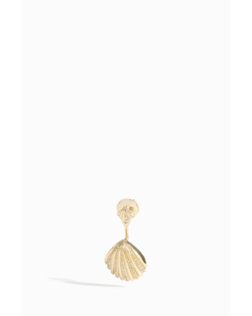 Yvonne Léon | Metallic Grey Diamond Shell Earring | Lyst