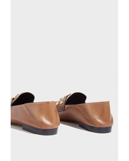 1774a376d6b ... Isabel Marant - Multicolor Feenie Studded Leather Loafers - Lyst