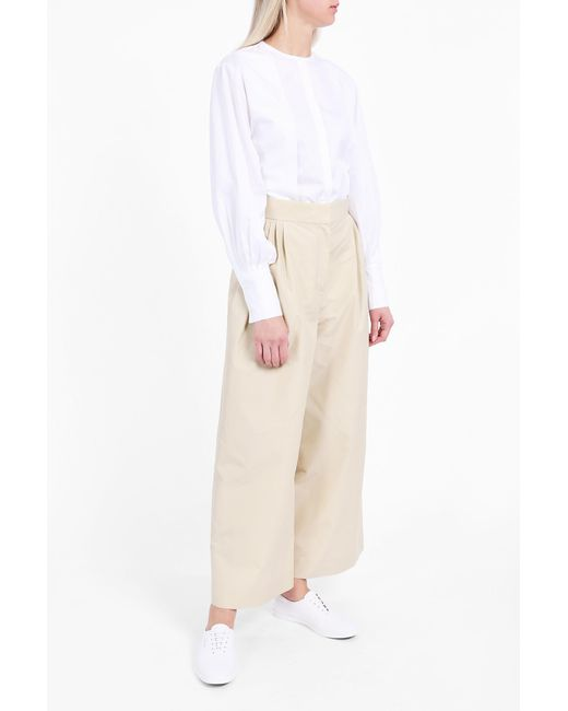 The Row | White Painter Collarless Shirt | Lyst