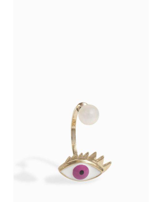 Delfina Delettrez   Multicolor Eye Piercing Earring   Lyst