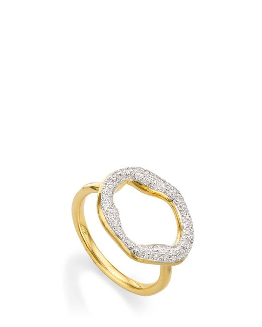 Monica Vinader   Metallic Riva Diamond Ring   Lyst