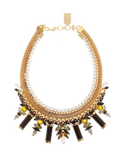 Lizzie Fortunato | Metallic Lagoon Gold-platd Bras Ncklace | Lyst