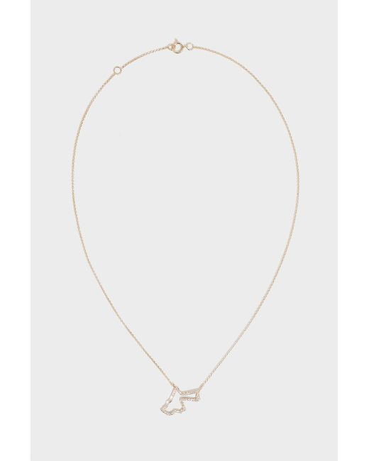 TIBA - Metallic Jordan Map Outline Necklace, Size Os, Women, Y Gold - Lyst